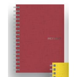 Quaderno Fabriano - Ecoqua A4 Spiral. 4 fori 5M Rosso