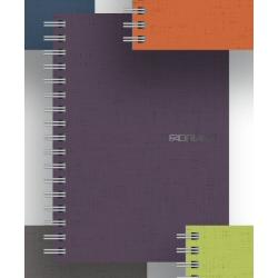 Carnet Fabriano EcoQua - Cahier - A4 - 70 feuilles - gradué - framboise - papier Sirio Tela