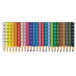 Crayon Faber-Castell GRIP - Crayon de couleur - couleurs assorties - 3.3 mm - pack de 24