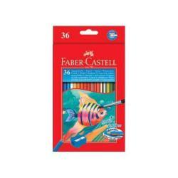 Crayon Faber-Castell - Ensemble de crayons de couleur et pinceaux - aquarelle - pack de 36