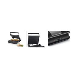 Princess 117205 Comfort Pro Turbo - Appareil à panini - 2000 Watt - satin noir/acier inoxydable