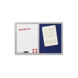 Tableau Lebez - Tableau combiné : tableau blanc, tableau d'affichage - 400 x 600 mm - feutre - magnétique