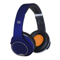Conceptronic CHSPBTSPKBLU - Casque avec micro - pleine taille - sans fil - Bluetooth - bleu