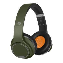 Conceptronic CHSPBTSPKG - Casque avec micro - pleine taille - sans fil - Bluetooth - vert