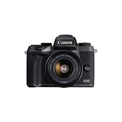 Appareil photo Canon EOS M5 - Appareil photo numérique - sans miroir - 24.2 MP - 1080p / 60 pi/s - 3 x zoom optique lentille EF-M 15-45 mm - Wi-Fi, NFC, Bluetooth - noir - avec Canon Mount Adapter EF-EOS M