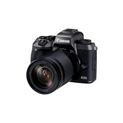 Appareil photo Canon EOS M5 - Appareil photo numérique - sans miroir - 24.2 MP - 1080p / 60 pi/s - 8.3 x zoom optique objectif EF-S 18 - 150 mm IS STM - Wi-Fi, NFC, Bluetooth - noir