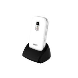 Téléphone portable Saiet CELL.UNICO - Téléphone mobile - microSDHC slot - GSM - TFT - 0,3 MP - blanc