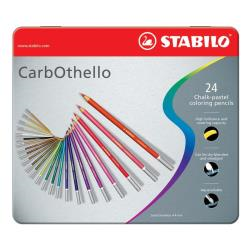 Stabilo CarbOthello - Crayon de couleur - chalk pastel - couleurs assorties - 4.4 mm - pack de 24