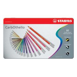 Stabilo CarbOthello - Crayon de couleur - couleurs assorties - 4.4 mm - pack de 60