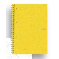 Quaderno Fabriano - Ecoqua A5 Spiralato 5M Giallo CF5p