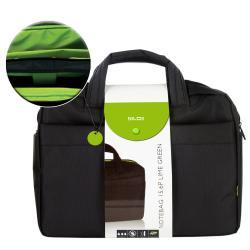 """Sacoche Nilox LIME GREEN - Sacoche pour ordinateur portable - 15.6"""" - noir, vert"""
