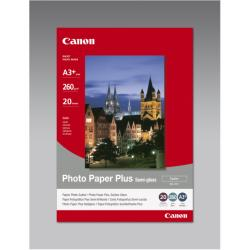 Papier Canon Photo Paper Plus SG-201 - Semi-brillant - A3 plus (329 x 423 mm) - 260 g/m² - 20 feuille(s) papier photo - pour i9950; PIXMA iX4000, iX5000, iX7000, PRO-1, PRO-10, PRO-100, Pro9000