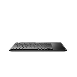 Clavier Rapoo K2600 - Ensemble de clavier et pavé tactile - sans fil - 2.4 GHz - italien - noir