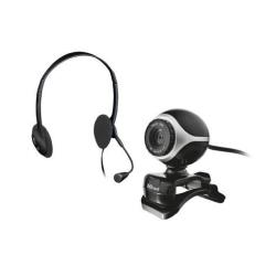 Webcam Trust Exis Chatpack - Webcam - couleur - 640 x 480 - audio - USB