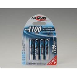 Pile ANSMANN Micro - Batterie 4 x AAA NiMH 1100 mAh