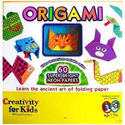 Faber-Castell Creativity for Kids Origami - Papier - 60 feuilles - assortiment néon