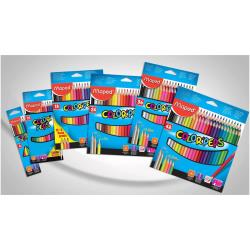 Maped Color'Peps Cardboard Packs - Crayon de couleur - couleurs assorties - 2.9 mm - pack de 24