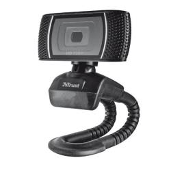 Webcam Trust Trino HD Video Webcam - Webcam - couleur - 1280 x 720 - audio - USB 2.0