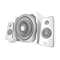 Enceinte PC Trust Tytan 2.1 Subwoofer Speaker Set - Système de haut-parleur - pour PC - Canal 2.1 - 60 Watt (Totale) - blanc