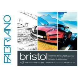 Fabriano Brisrol - Bloc collé sur 1 côté - 297 x 420 mm - 20 feuilles