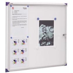 Nobo Extra - Tableau d'affichage inclus - montable au mur - 670 x 630 mm - 6 x A4 - magnétique - blanc