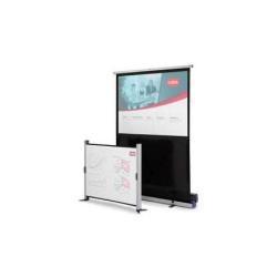 Écran pour vidéoprojecteur NOBO - Écran de projection avec support de pose au sol - 79 po (200 cm) - 4:3