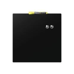 Tableau Quartet - Tableau blanc - carré - 360 x 360 mm - magnétique - noir