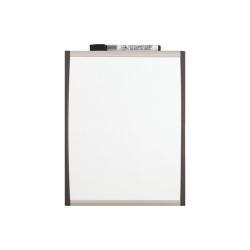 Tableau Nobo Quartet - Tableau blanc - montable au mur - 280 x 215 mm - magnétique - cadre noir/argent