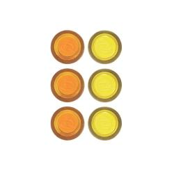 Rexel - Aimant - jaune, violet, orange (pack de 6)