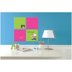 Tableau Quartet - Tableau blanc - carré - 360 x 360 mm - magnétique - rose