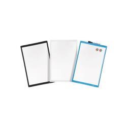 Tableau Quartet - Tableau blanc - 216 x 280 mm - magnétique - noir, bleu, vert, rose (pack de 6)
