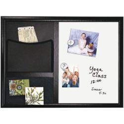 Tableau Nobo Quartet Envision - Tableau combiné : tableau blanc, tableau d'affichage - 430 x 580 mm - acier laqué - magnétique - noir, blanc - cadre noir