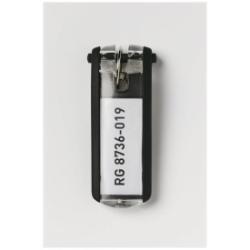 DURABLE - Porte-clé - plastique - noir - pack de 6