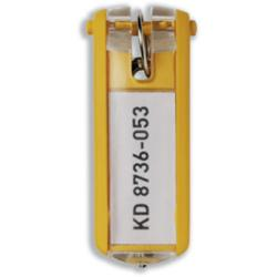 DURABLE - Porte-clé - plastique - jaune - pack de 6