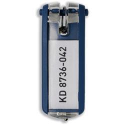 DURABLE - Porte-clé - plastique - bleu foncé - pack de 6
