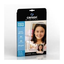 Papier CANSON Gamma Performance - Papier photo - brillant - A4 (210 x 297 mm) - 210 g/m² - 20 feuille(s)