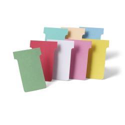 Nobo - Fiche en T - 4.85 x 8.5 cm - Taille 2 - blanc ( pack de 100 ) - pour P/N: 1900393, 1900398, 1900403