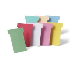 Nobo - Fiche en T - 4.85 x 8.5 cm - Taille 2 - jaune ( pack de 100 ) - pour P/N: 1900393, 1900398, 1900403