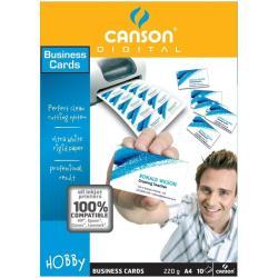 Cartes de visite Canson - Cartes de visite - 54 x 85 mm - 220 g/m² - 100 carte(s) (10 feuille(s) x 10)