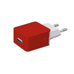 Chargeur Urban Revolt Wall Charger - Adaptateur secteur - 5 Watt - 1 A ( USB (alimentation uniquement) ) - rouge
