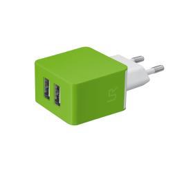 Chargeur Urban Revolt Dual Wall Charger - Adaptateur secteur - 10 Watt - 1 A - 2 connecteurs de sortie (USB (alimentation uniquement)) - citron vert