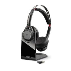 Plantronics Voyager Focus UC B825 - Pas de support de charge - casque - sur-oreille - sans fil - Bluetooth - Suppresseur de bruit actif - version standard UC