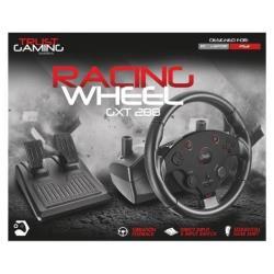 Contrôleurs Trust GXT 288 Racing Wheel - Ensemble volant et pédales - filaire - pour PC, Sony PlayStation 3