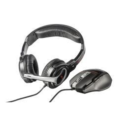 Trust GXT 249 Gaming Headset & Mouse - Lot d'accessoires de bureau