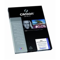 Papier CANSON Infinity Rag Photographique Duo - Papier chiffon lisse beaux-arts laqué des deux côtés - blanc pur - A3 (297 x 420 mm) - 220 g/m² - 25 feuille(s)
