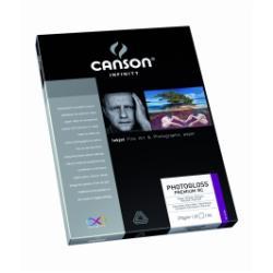 Papier CANSON Infinity PhotoGloss Premium RC - Papier photo - brillant - enduit de résine - blanc extra - A3 (297 x 420 mm) - 270 g/m² - 25 feuille(s)