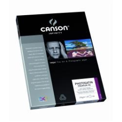 Papier CANSON Infinity PhotoSatin Premium RC - Papier photo - satin - enduit de résine - blanc extra - A3 (297 x 420 mm) - 270 g/m² - 25 feuille(s)
