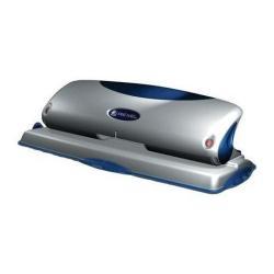 Perforatrice Rexel Precision P425 - Perforateur - robuste - 25 feuilles - 4 trous - métal - Bleu/argent