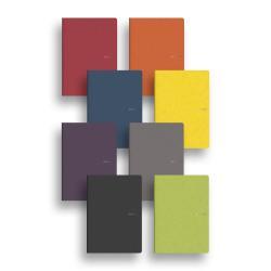 Carnet Fabriano EcoQua - Cahier - A4 - 40 feuilles - gradué - gris - papier Sirio Tela