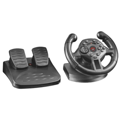 Contrôleurs Trust GXT 570 Compact - Ensemble volant et pédales - filaire - pour PC, Sony PlayStation 3